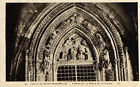 CPA 76 abbaye de SAINT WANDRILLE tympan de la porte de la vierge