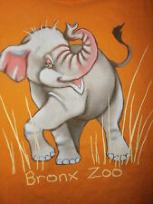BRONX ZOO T SHIRT New York BABY ELEPHANT Orange YOUTH LARGE Free USA Ship