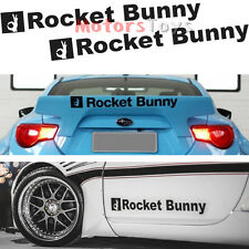2pc Rocket Bunny Car Decal Sticker For FT86 86 FRS BRZ 240SX 200SX GTR 350Z S14