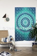 Ombre Mandala Tapestry Hippie Wall Hanging Cotton Bedspread Twin Throw Decor