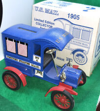Ertl 1905 Ford USPS Post Office US Mail Delivery Truck Bank In Box!