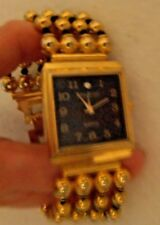 Joan Rivers Classics Collection Watch  Quartz  Goldtone W/Black  New Battery