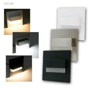 Wand-Einbaustrahler LED Lampe Pour Up-Schalter-Dose, Treppen-Stufen-Licht Lampe