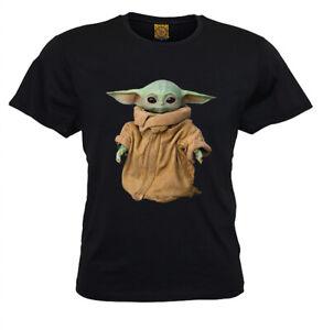Kids T Baby Yoda T-Shirt star wars the Mandalorian the child Fashion  AU Seller