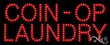 """NEW """"COIN-OP LAUNDRY"""" 27x11 SOLID/ANIMATED LED SIGN W/CUSTOM OPTIONS 20042"""