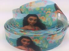 "BTY 1"" Disney Hawaiian Princess Moana Grosgrain Ribbon Hair Bows Lanyards Lisa"