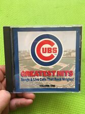 Chicago Cubs:Greatest Hits-Songs & Live Calls CD 1999 Baseball Wrigley Vol.1