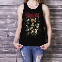 Slipknot Women Black Tank Top Heavy Metal Band Masks Fan Singlet S M L XL XXL 3