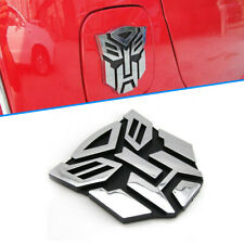 TRANSFORMERS AUTOBOT METAL CAR BADGE 3D CHROME STICKER EMBLEM DECAL LOGO