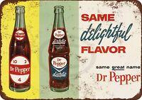 "1963 Diet Dr. Pepper Vintage Rustic Retro Metal Sign 8"" x 12"""