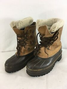 Eddie Bauer Mens 8 Vintage USA Made Lace Up Wool Pac Insulated Boots