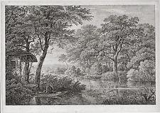 """CHRISTIAN MORGENSTERN (1805-1867) """"DIE FISCHERHÜTTE"""" ORIG.-RADIERUNG UM 1836"""