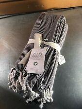 Zestt Black/Cream Cotton Throw- 50 x 70- NWT