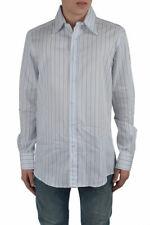 Dolce & Gabbana Men's Multi-Color Striped Dress Shirts US 17 IT 43