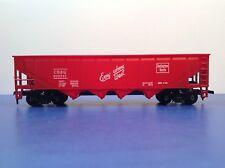 """HO Scale """"Burlington Route"""" CB&Q 300747 4 Bay Open Hopper Freight Train Car"""