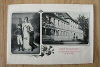 Ansicht von Schloß Alexandersbad Wunsiedel OFR 1900 Königin Luise 1805 Haus (1
