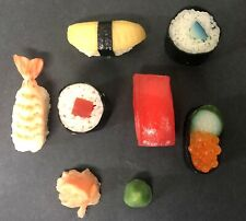 Realistic Artificial Faux Fake Food Replica SUSHI Stage TV Movie Prop Lot of 8