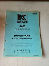 Vintage 1973 Kohler Parts Identification Manual K482 Original