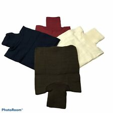 Knit Dickeys Set/4 Neck Protectors From The Cold & Wind Blue,Burgundy,Cream,BRO