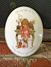 Vintage Holly Hobbie Plaque Always Take The Time To Say What'S In Your Heart~Cat