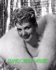 JUDY HOLLIDAY 8X10 Lab Photo 1940s High Fashion Fur Coat Publicity Portrait