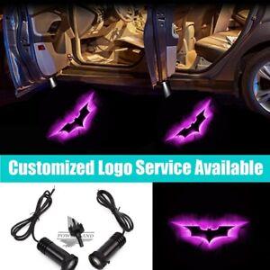 2x Pink Dark Knight Batman Logo Car Door Projector Shadow LED Welcome Light