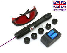 BX6-C 1MW 450nm Blue Laser Pointer Visible Lazer Pen &Battery&Charger&Goggles UK