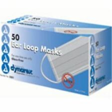 Dynarex Glass-Free Filter Surgical Face Mask with Ear Loops 50 ea (Pack of 6)
