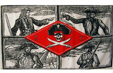 Skulls 4 Pirates Fighting Swords Flag 5 x 3 FT 100% Polyester Pirate Swashbuckle
