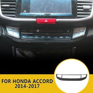 Carbon Fiber Pattern Center Console CD Panel Cover For Honda Accord 2014-2017