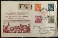 1941 Turnau Bohemia Moravia Germany First Day Cover FDC Philatelic Exhibition