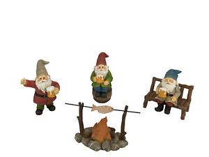 Miniature Gnomes Figurines - HAPPY GNOMES Beer Drinking Buddies! - 5-Piece Set
