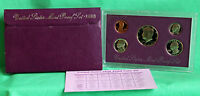 1990 S United States Mint ANNUAL 5 Coin Proof Set Original Box and COA Complete