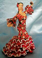 Barcino Mosaic Spanish Flamenco Lady Dancer w/Castanets Figurine Pre-owned