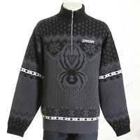 SPYDER Men Zip Neck Wool & Acrylic Lined Jumper Sweater Size 56 / XXL