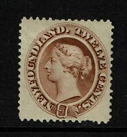 Newfoundland SG# 28, Red Brown, Mint Hinged, sm Hinged, see notes - Lot 071717
