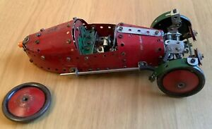 MECCANO  - RED MORGAN 3 WHEEL STYLE MODEL CAR