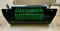 Gloss Black & Green DEFENDER Steering Sump Guard 5mm Steel Land Rover 90 110 130