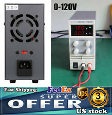0 120v Adjustable Lab Variable Linear Power Supply Dc Bench With Digital Display
