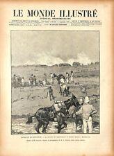 Expédition de Madagascar Caravane Journalistes à Suberbieville 1895 ILLUSTRATION