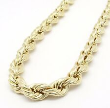 """10K Gold Yellow Rope Chain 30"""" 10mm wide 37.3 Grams"""