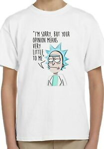 Rick Sanchez Rick and Morty Quote Kids Unisex Top Birthday Gift Top T-Shirt 138
