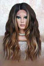 Perücke mit Lace an Front Wig Babylights ombre schwarz braun blond Silk Base