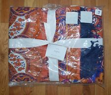 """POTTERY BARN JESS SCARF PRINT THROW 50X60"""" SILK REVERSES TO ACRYLIC SOLD OUT"""