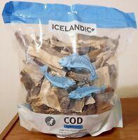 Icelandic+ | All-Natural Dog Chew Treats | Cod Skin Pieces Bulk, 1LB