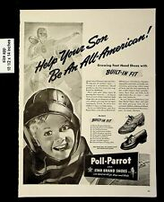 1942 Poll Parrot Star Brand Shoes Built in Fit Vintage Print ad 8624