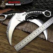 Mirror light scorpion claw knife outdoor camping jungle survival battle karambit