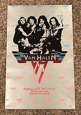 "Vintage 1980 Van Halen Concert Poster July 30 David Lee Roth 20""x13"" SCARCE"