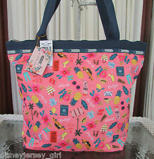 LeSportsac Rifle Paper Co. Hailey Tote Tropical Voyage Travel Bag LIMITED ED NWT
