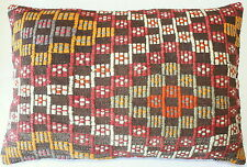 (50*70cm) Turkish handwoven kilim cushion cover natural dyes brocaded #ED4